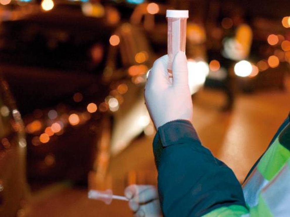 Control de drogas realizado por la Guardia Civil.