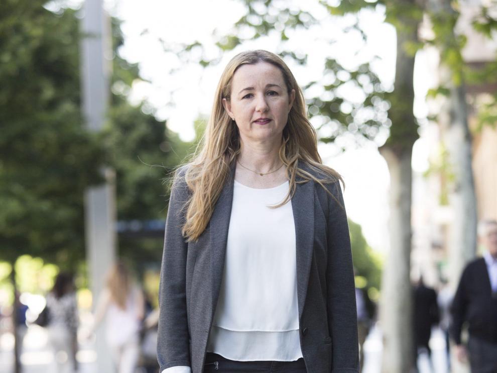 Elena Martínez, concejala del Ayuntamiento de Zaragoza por Ciudadanos.