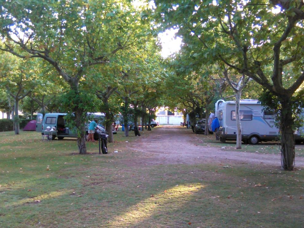 Camping San Jorge de Huesca.