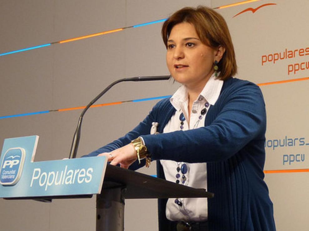 La presidenta del PP valenciano, Isabel Bonig