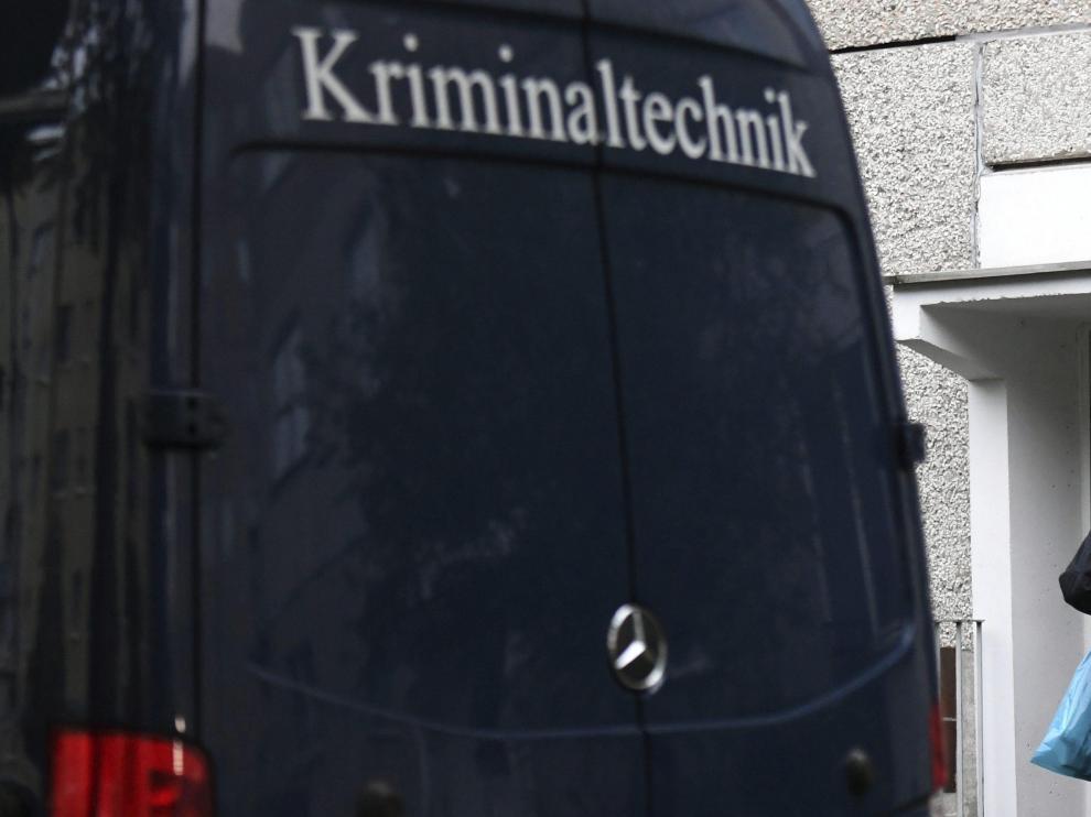La policía alemana detiene al presunto terrorista sirio fugado.
