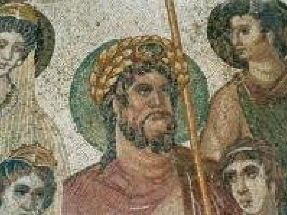 Los mosaicos de la villa romana de La Malena, en Azuara (Zaragoza), sufren un grave deterioro.