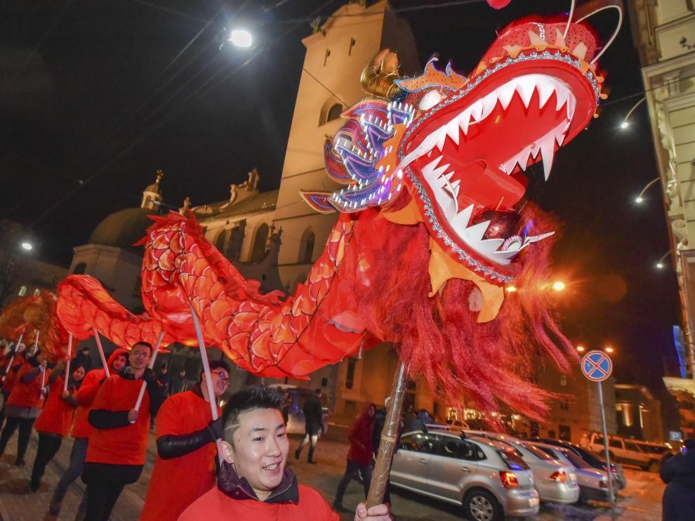 Celebración del año nuevo chino en distintos países