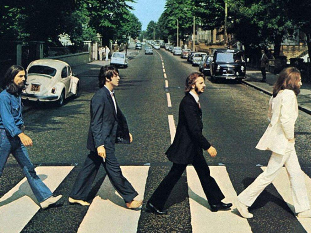 Famosa portada del disco 'Abbey Road' de The Beatles.