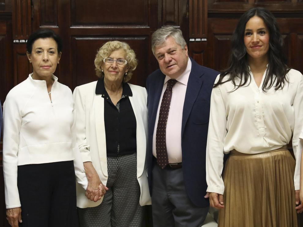 Los padres de Leopoldo López, Manuela Carmena y Begoña Villacís.