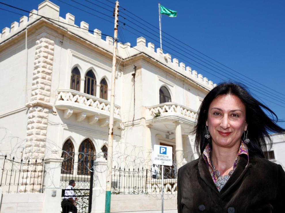 Imagen de archivo de la periodista fallecida ayer en Malta.