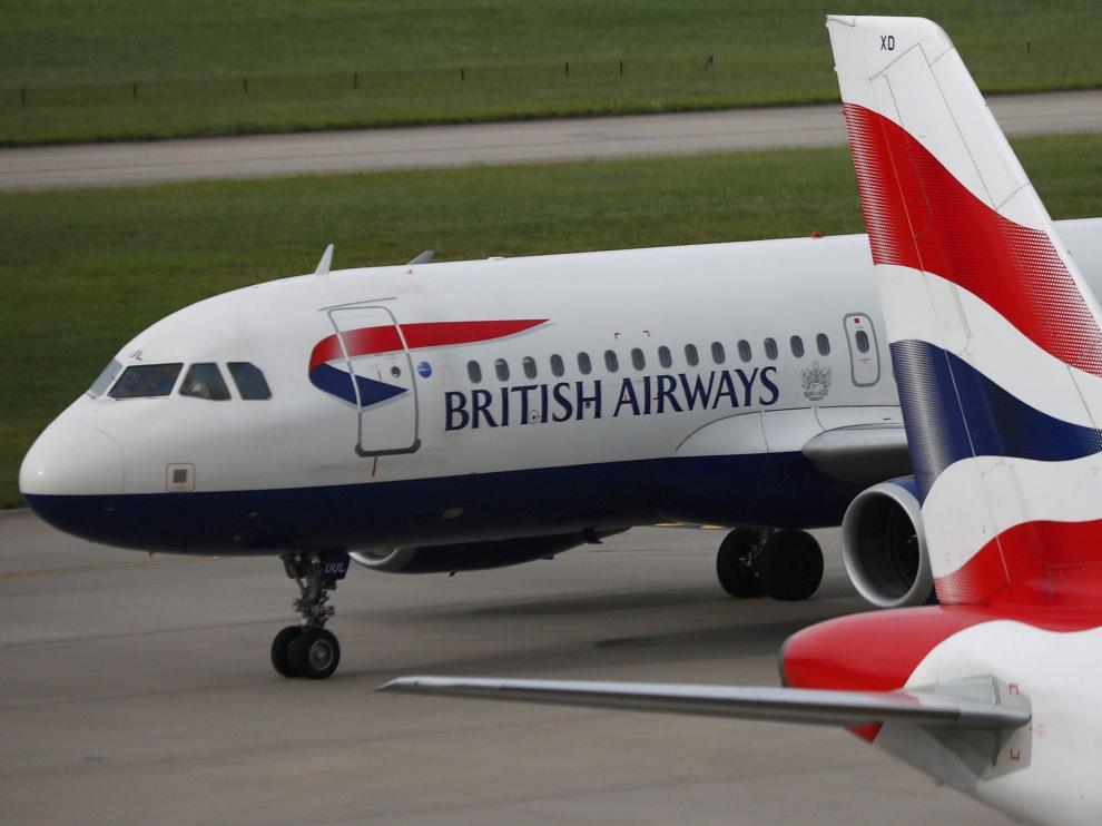 Aviones de British Airways en el aeropuerto de Heathrow (Londres).