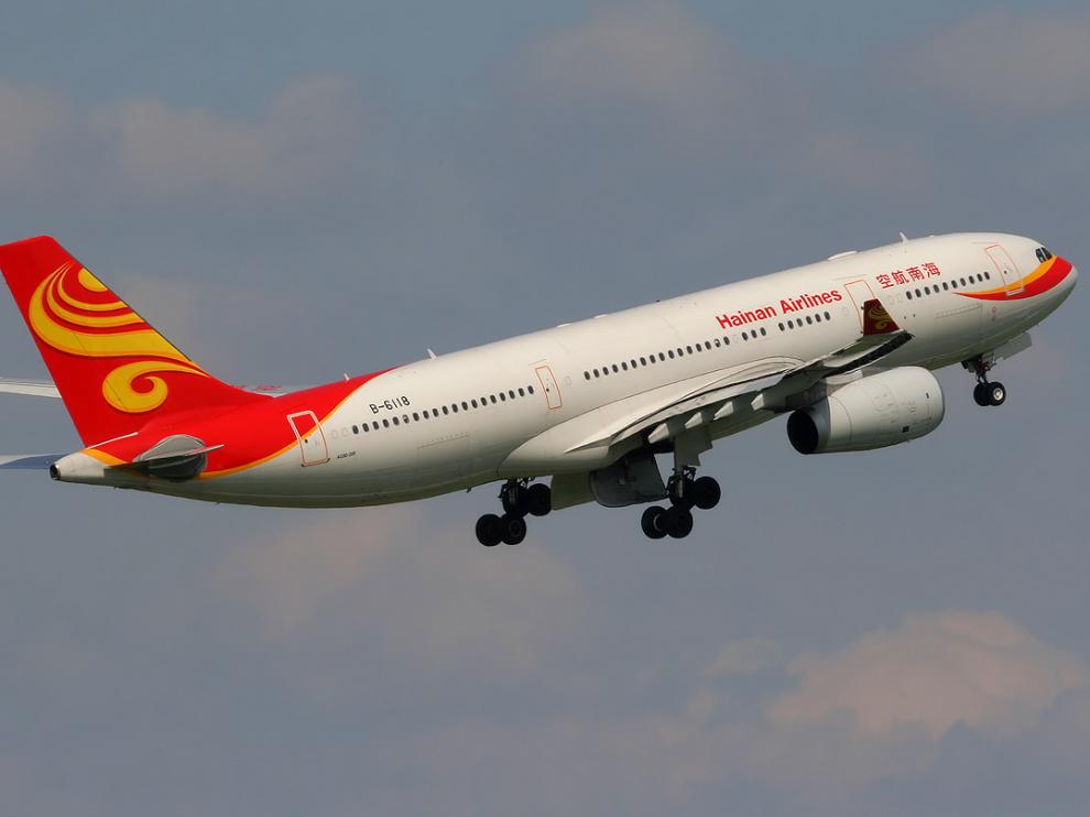 Avión de la compañía china Hainan Airlines