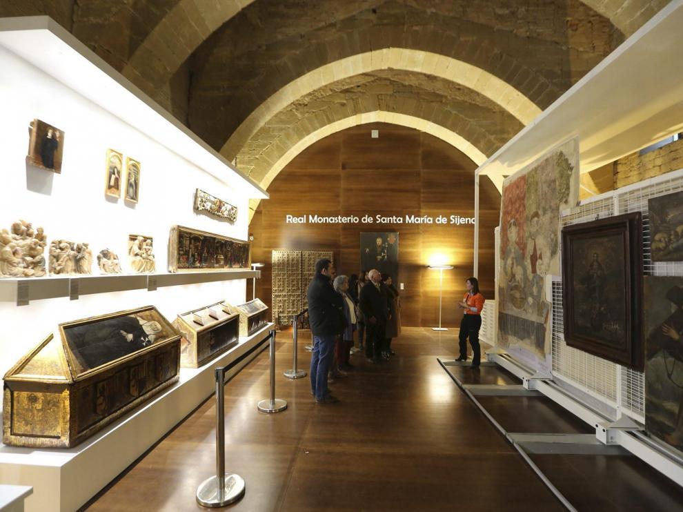 La muestra del monasterio de Sijena con los bienes aragoneses.
