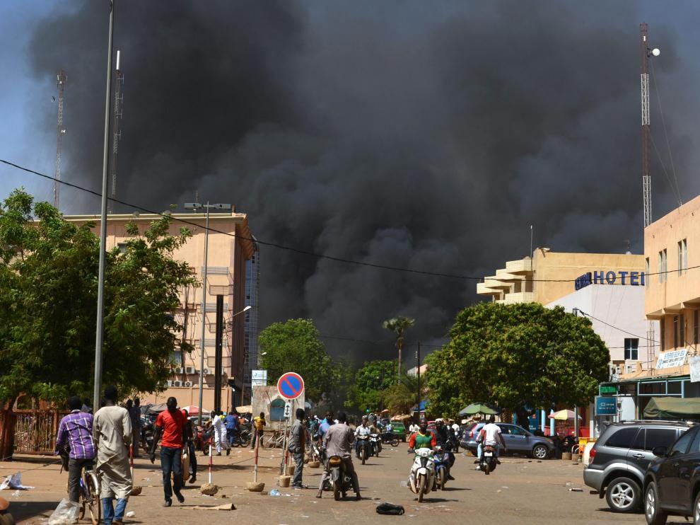 Imagen de archivo de un ataque armado en Burkina Faso.