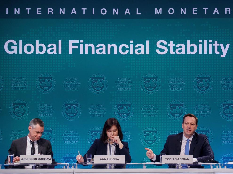 Rueda de prensa de los responsables del Fondo Monetario Internacional