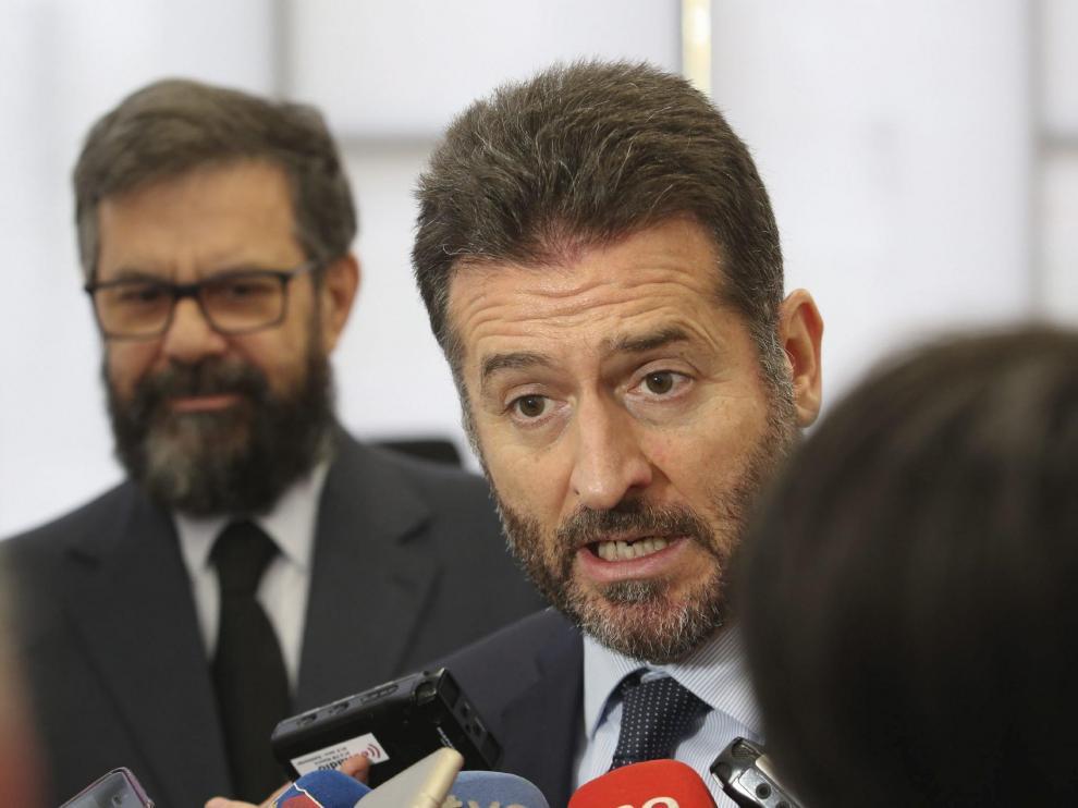 Manuel Bellido, en una imagen de archivo durante una visita a la Audiencia de Huesca,
