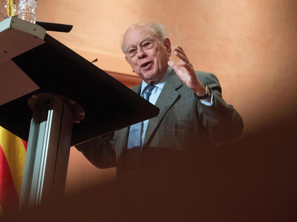 Jordi Pujol, expresidente de la Generalitat, en un acto homenaje organizado por la entidad Amics de Jordi Pujol.