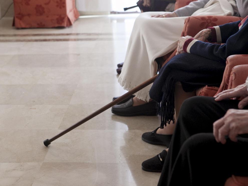 Ancianos en una residencia.