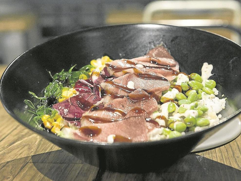 El poke de atún de almadraba de Barbate del restaurante Umami.