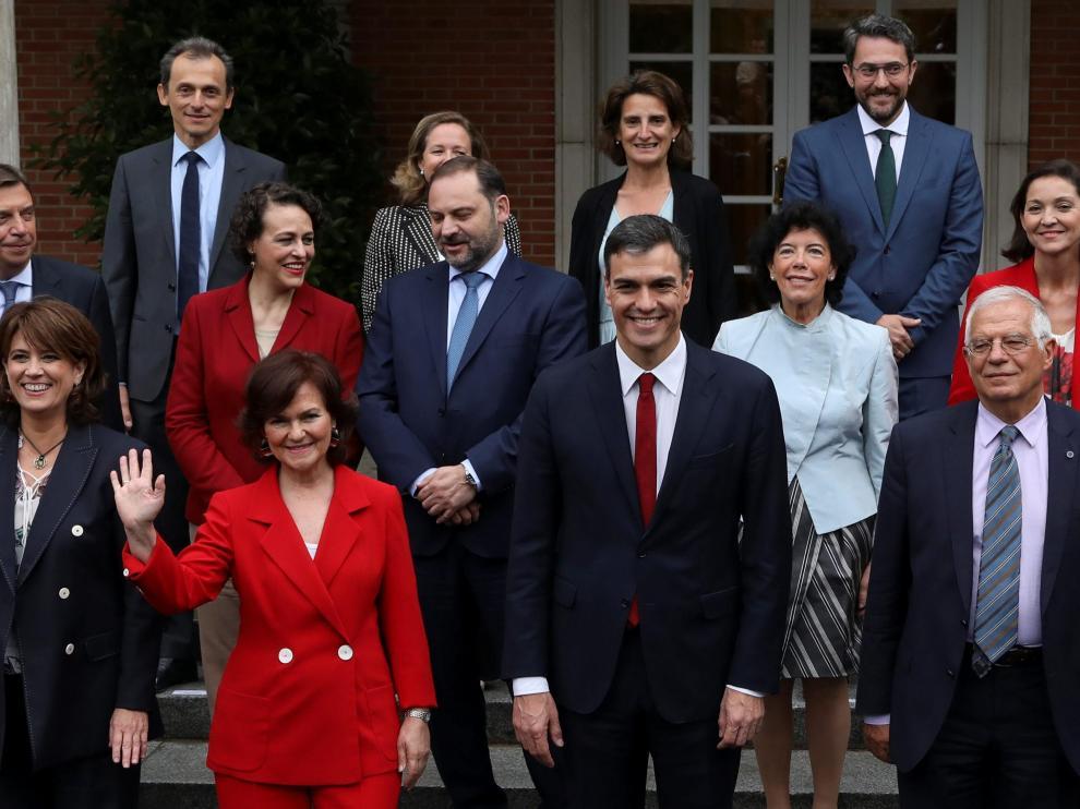 Imagen de archivo del primer Consejo de Ministros de Sánchez