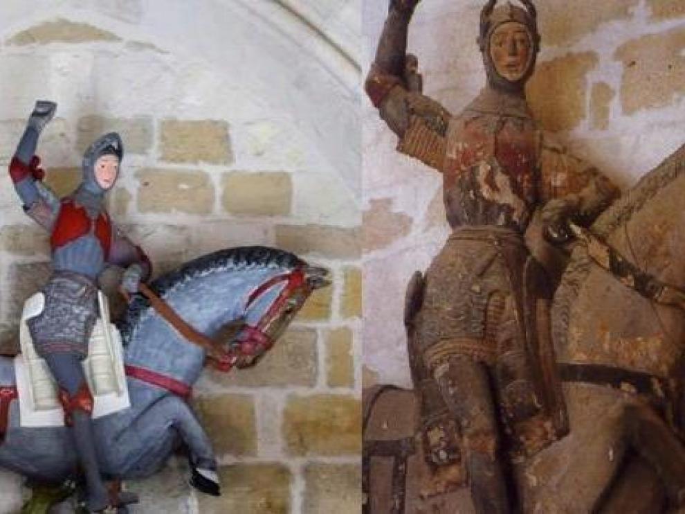Antes y después del San Jorge de Estella.