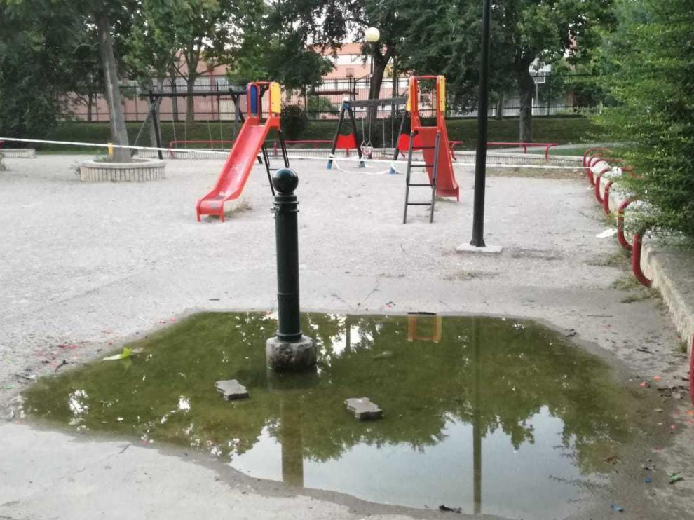 Fuentes en el parque Torre Ramona