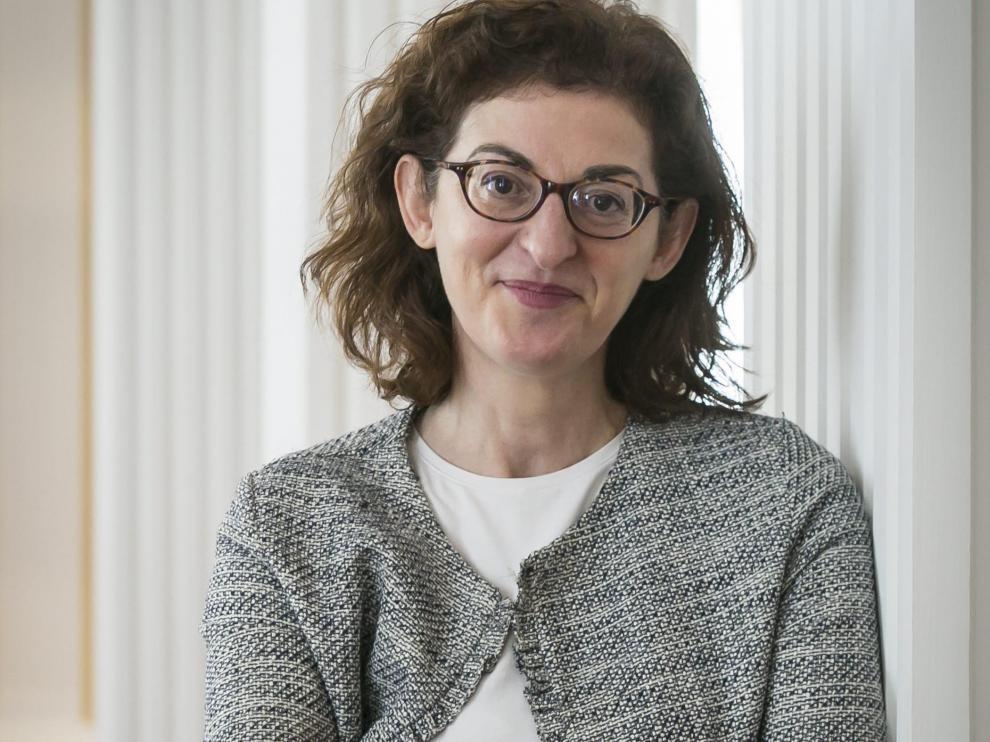 Maite Pagazaurtundua, en una reciente visita a Zaragoza