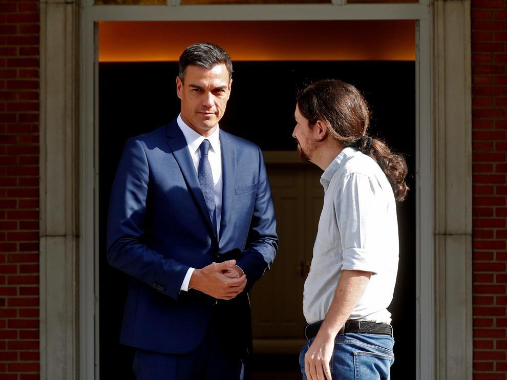 Arranca la reunión entre Sánchez e Iglesias en Moncloa