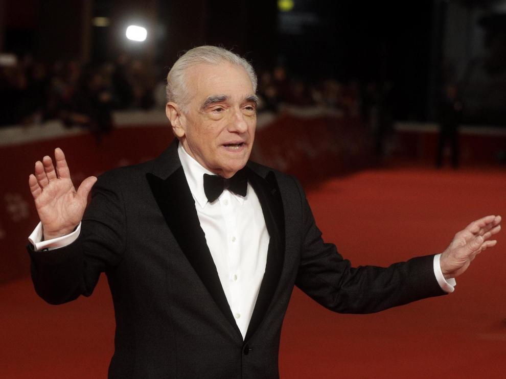 El cineasta estadounidense Martin Scorsese a su llegada al festival de cine de Roma.
