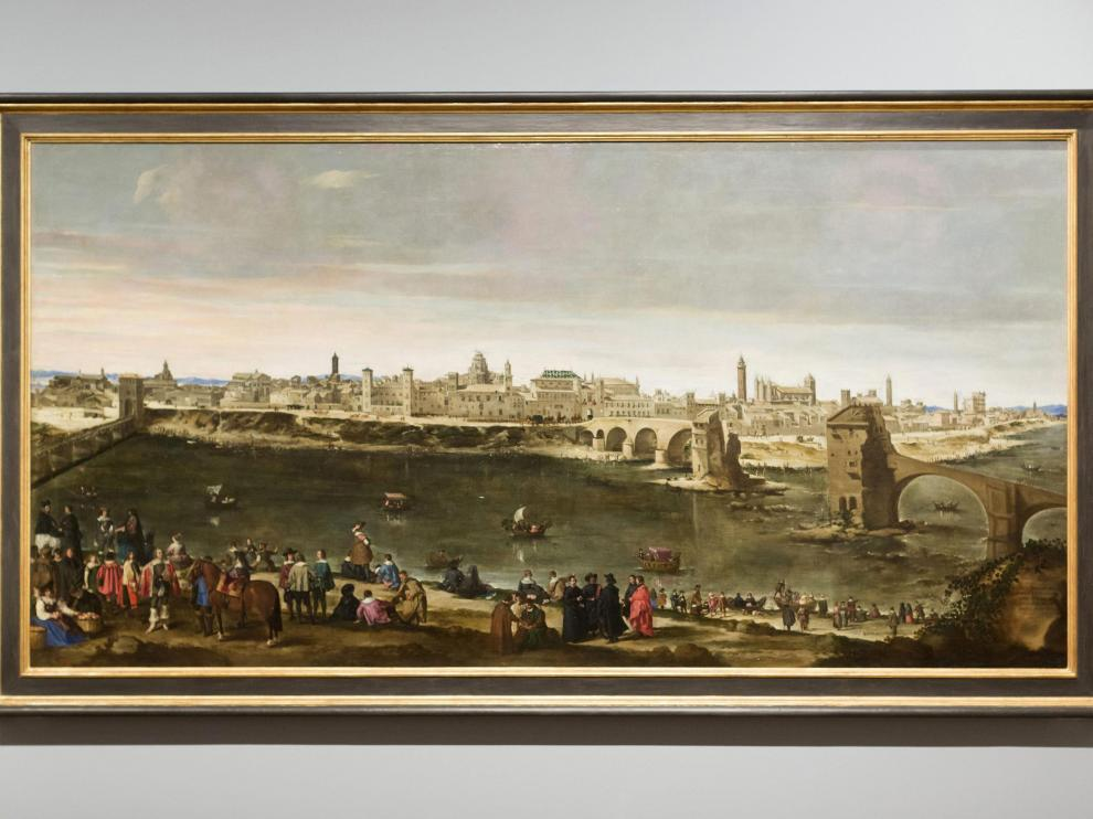'Vista de la ciudad de Zaragoza', obra de Juan Bautista Martínez del Mazo, yerno de Velázquez, conservada en el Museo del Prado.