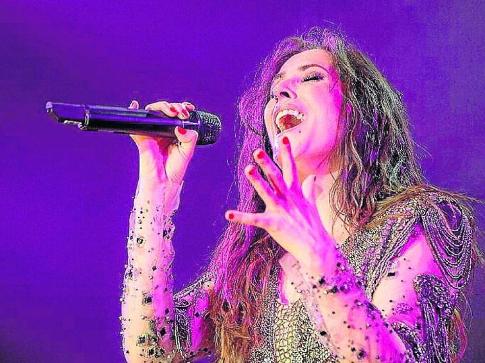 Malú en su concierto del pasado 9 de noviembre en Málaga.