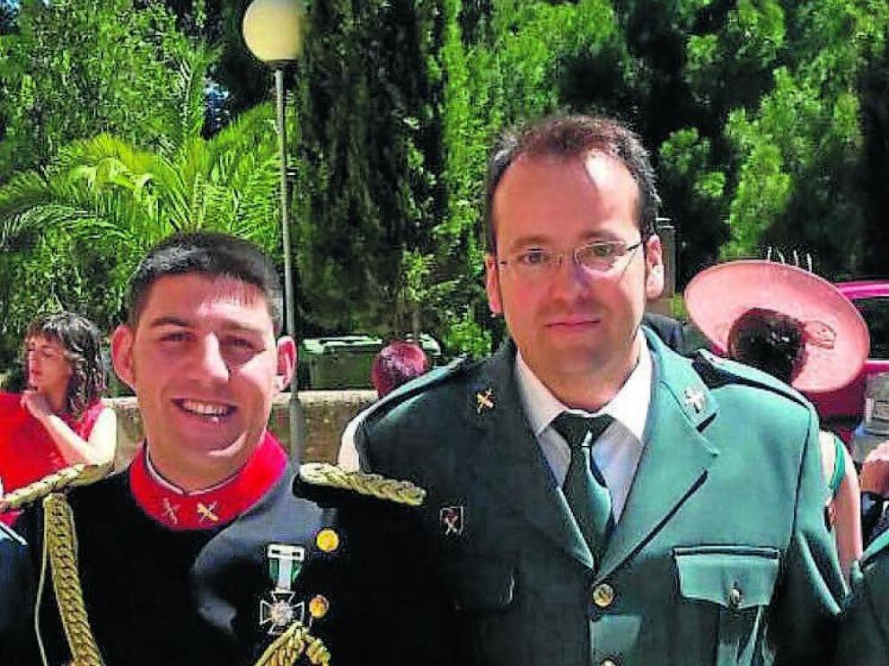 Los guardias civiles asesinados Víctor Romero y Víctor Caballero.