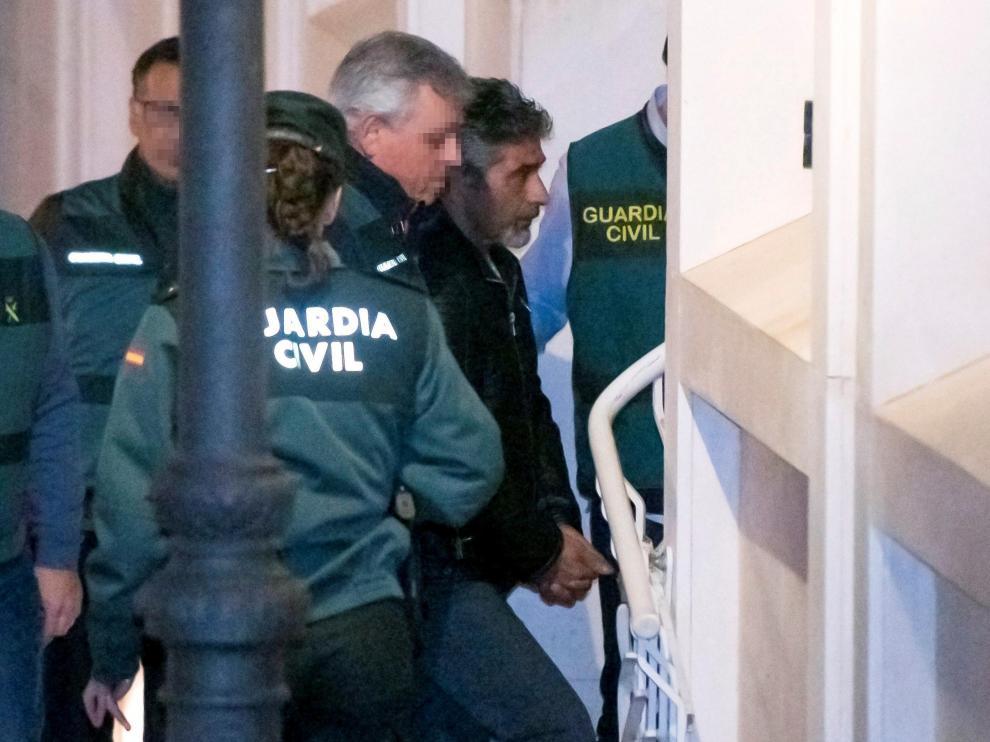 Bernardo Montoya, a su llegada a los juzgados