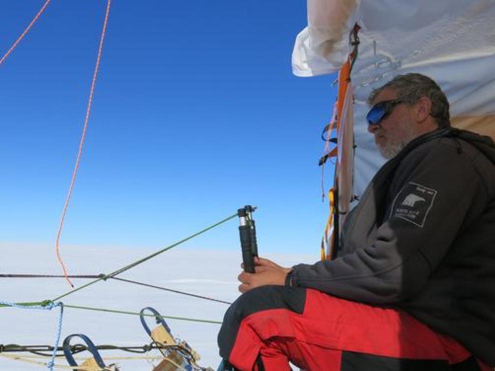 Ramón Larramendi en la Antártida