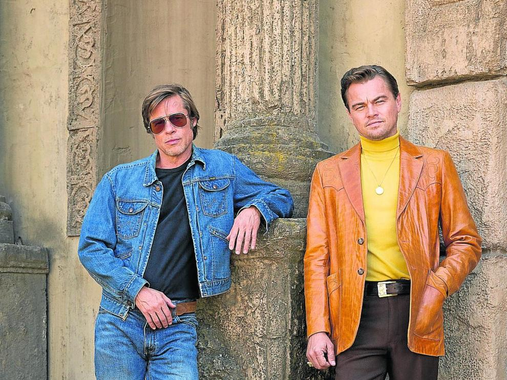 'ÉRASE UNA VEZ EN HOLLYWOOD'. Lo nuevo de Tarantino con Brad Pitt –izquierda– y Leonardo di Caprio.