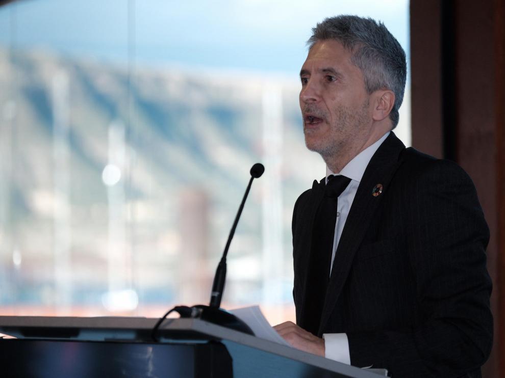 El ministro del Interior, Fernando Grande-Marlaska, durante su intervención en el foro organizado por la Cadena SER.