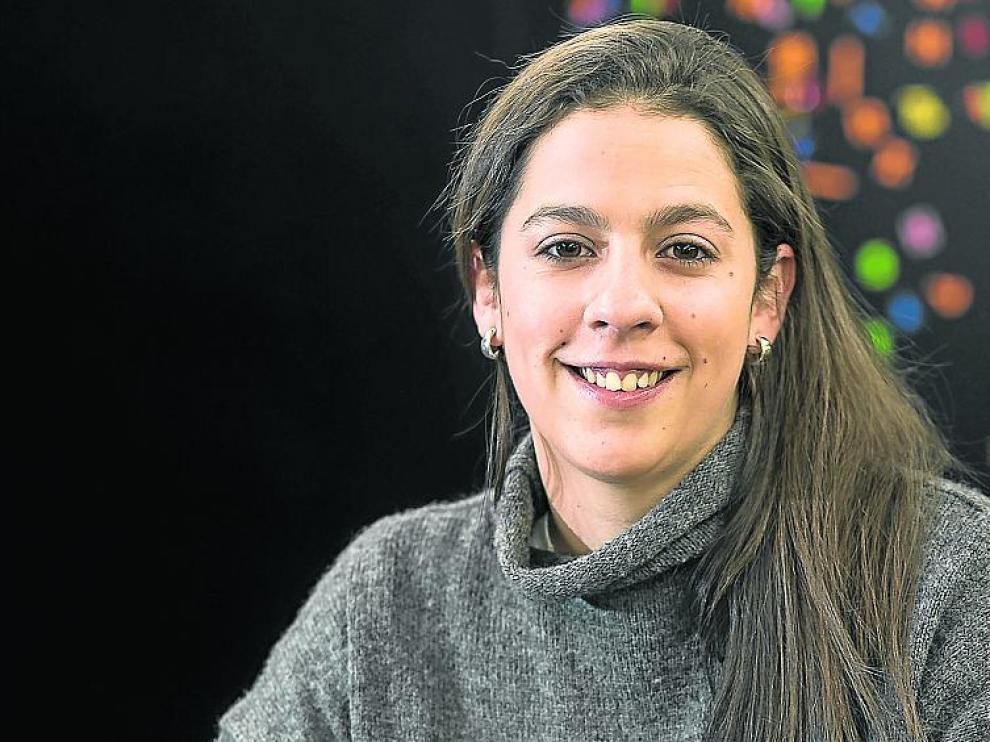Cristina Menéndez Félez, en la redacción de HERALDO.