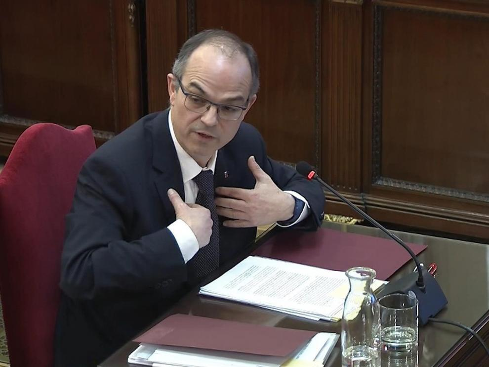 Jordi Turull, durante su declaración este martes.