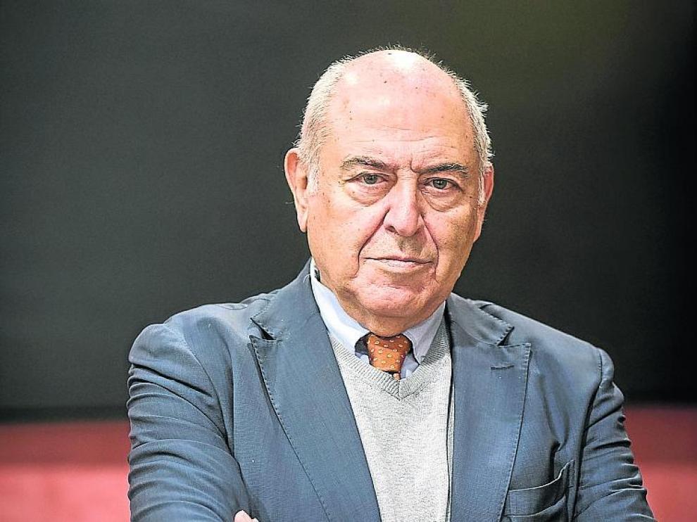 José Antonio Marina en el Patio de la Infanta de Zaragoza.