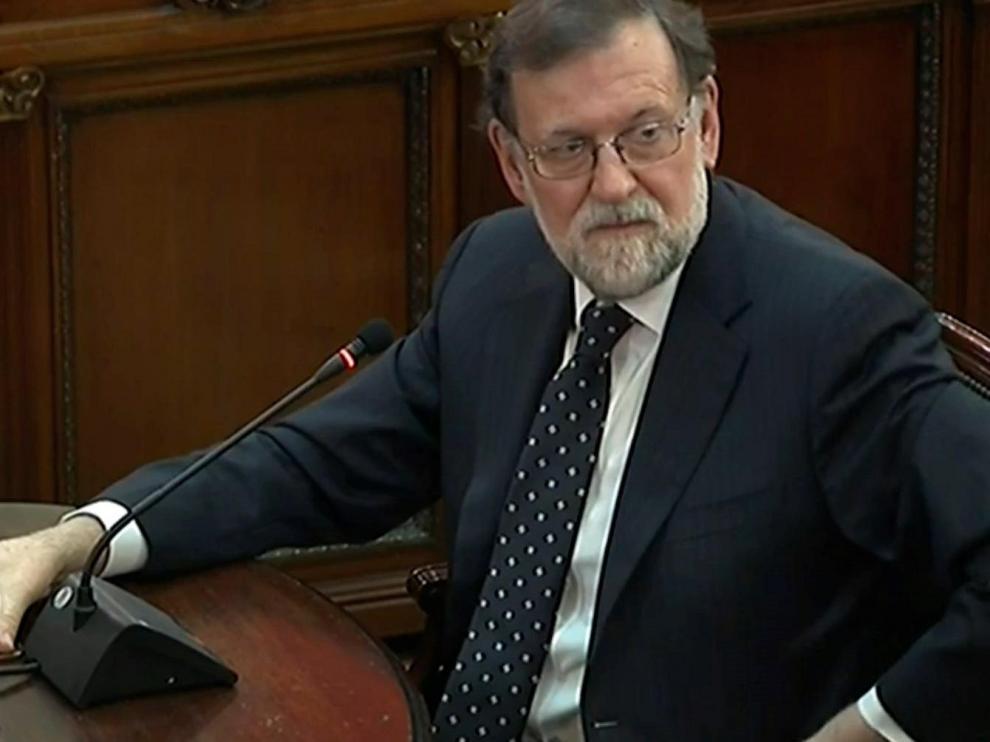 Rajoy, durante su declaración ante el Supremo.