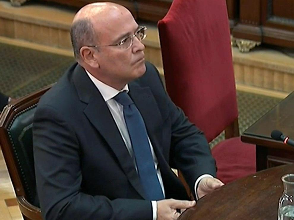 Diego Pérez de los Cobos en su declaración en 'juicio del Procés'.