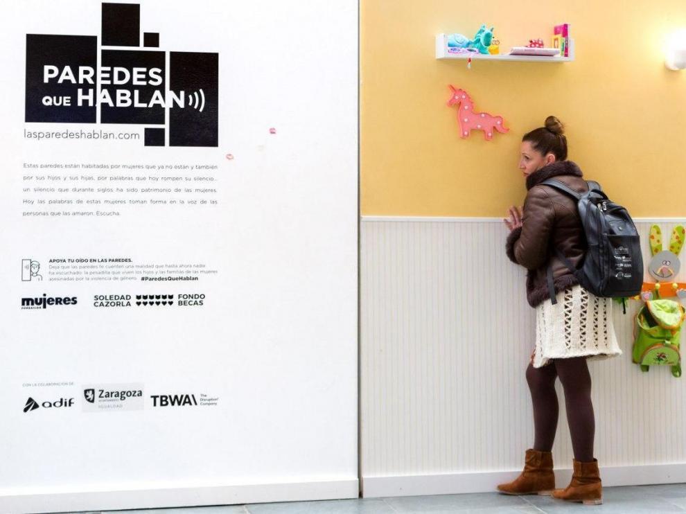 Una de las paredes que componen la exposición