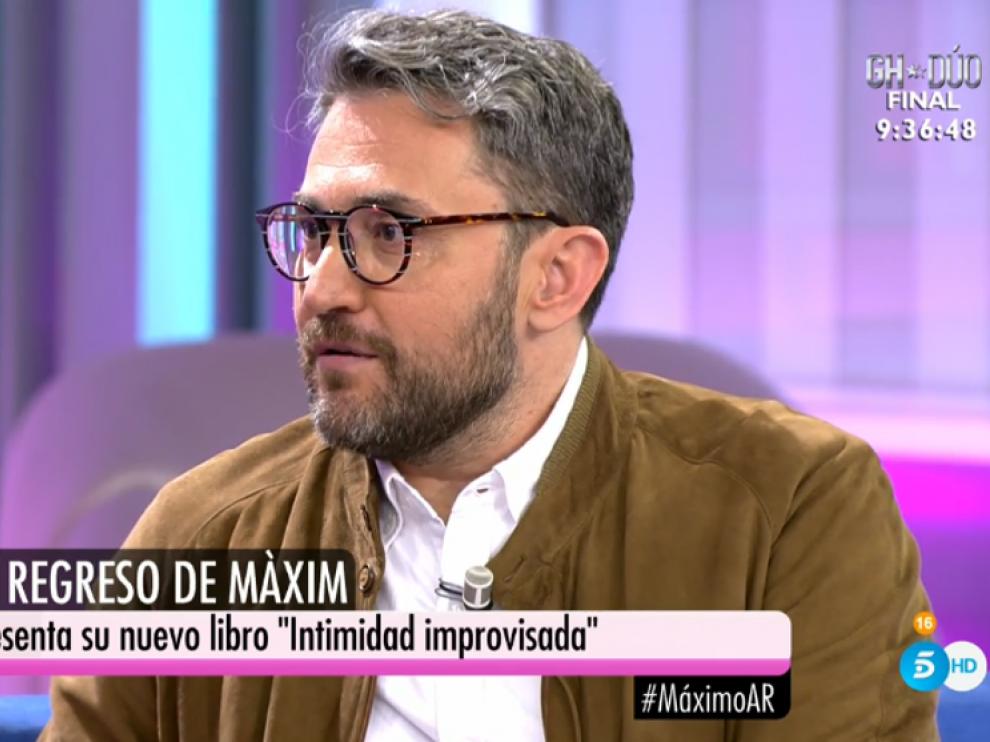 Màxim Huerta reaparece en el programa de Ana Rosa tras dimitir como ministro