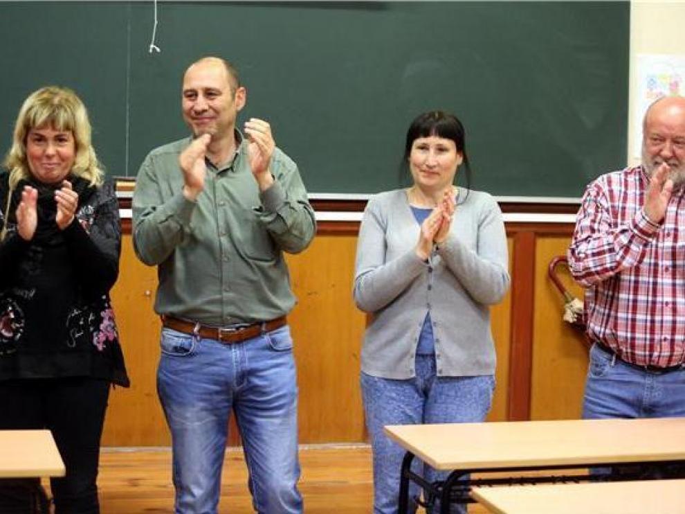 Pilar Callén, Jesús Pérez, Raquel González y Víctor Pardo son los cuatro primeros candidatos de la lista municipal de Cambiar
