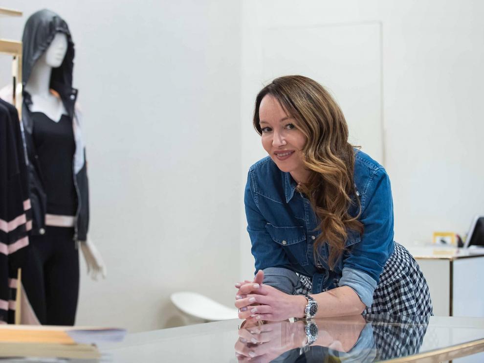 Ana Antic, en Zaragoza, donde dio una charla como estilista.
