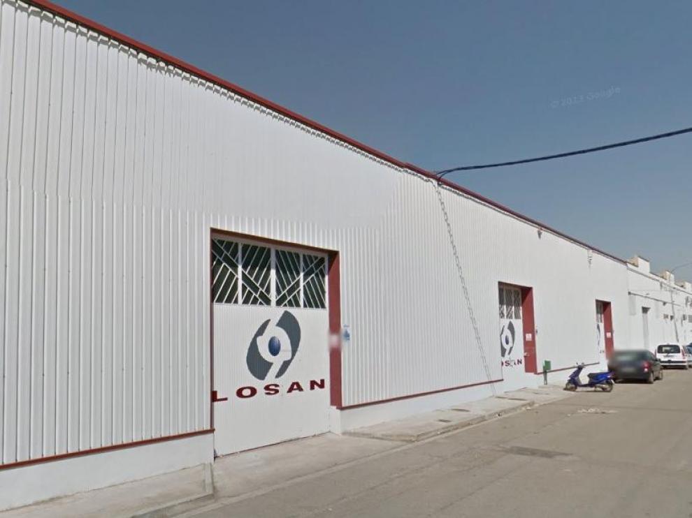 Imagen de la planta de Losan en Caspe.