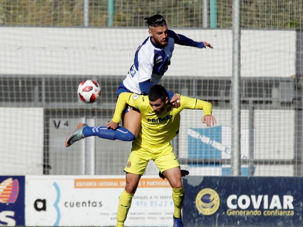 Imagen del partido de ida entre el CD Ebro ante el Villarreal B.