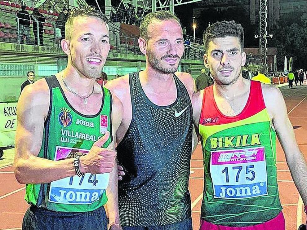 Yago Rojo, Toni Abadía y Ali Jellou, podio absoluto.