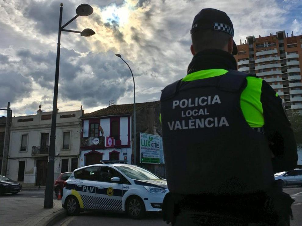 Imagen de un policía local de Valencia.