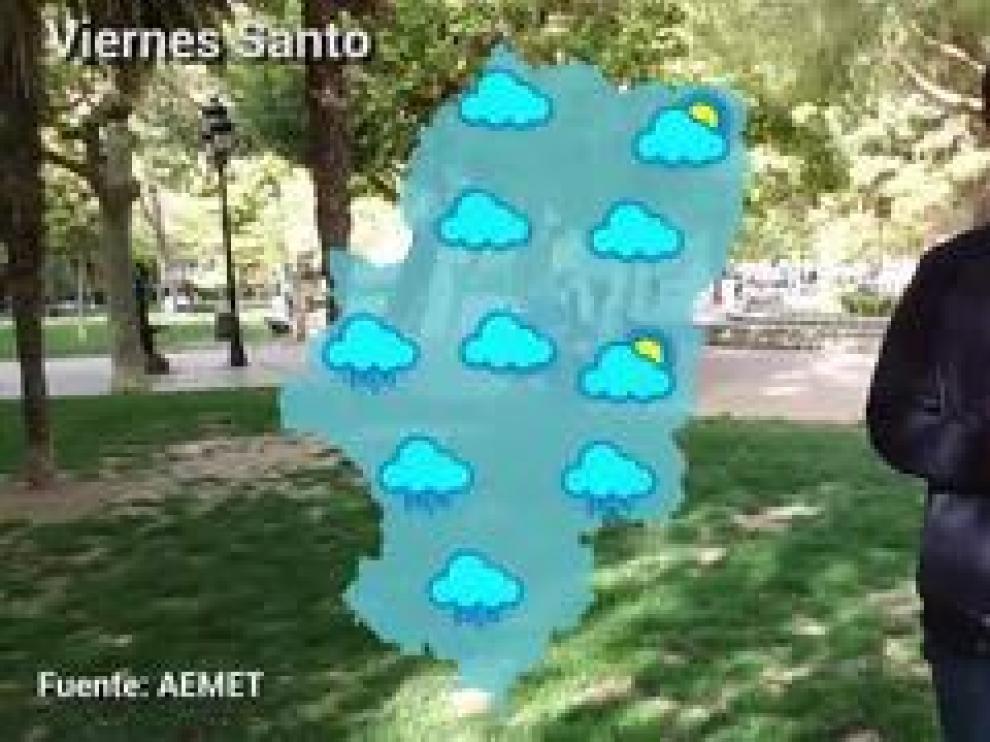 Una nueva borrasca atlántica entra por el oeste de la península y puede dejar chubascos y tormentas en Aragón. Una inestabilidad atmosférica que se centrará el Jueves y Viernes Santo con una alta probabilidad de lluvia (del 90%), según AEMET.