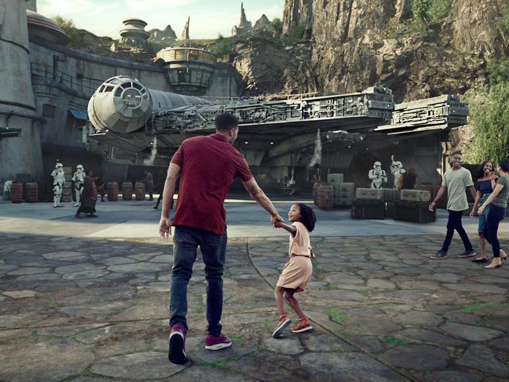 Imagen promocional de 'Star Wars Galaxy's Edge', la nueva zona de Disneyworld.