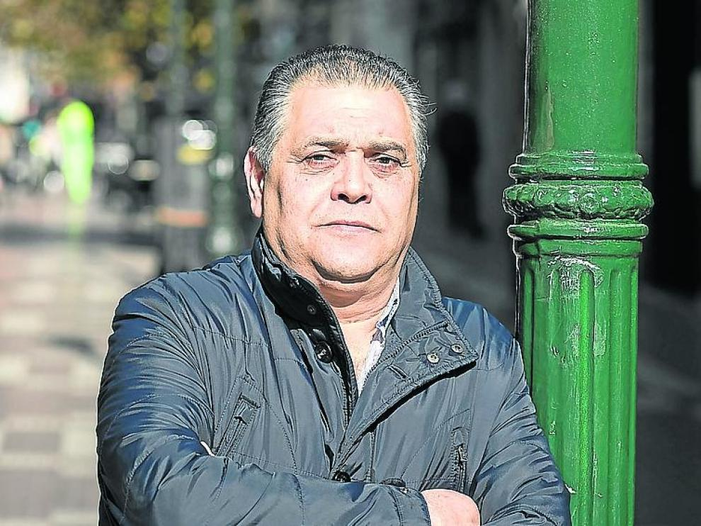 José Esteban Jaca, en el centro de Zaragoza.