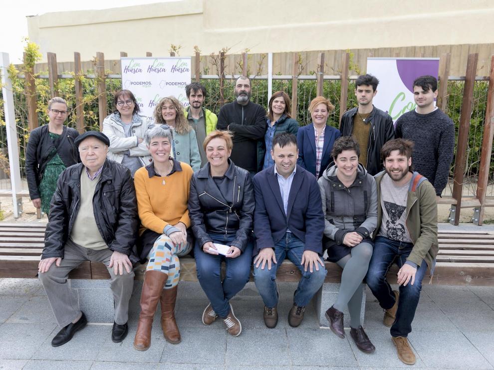 Presentación de la candidatura municipal de Con Huesca.