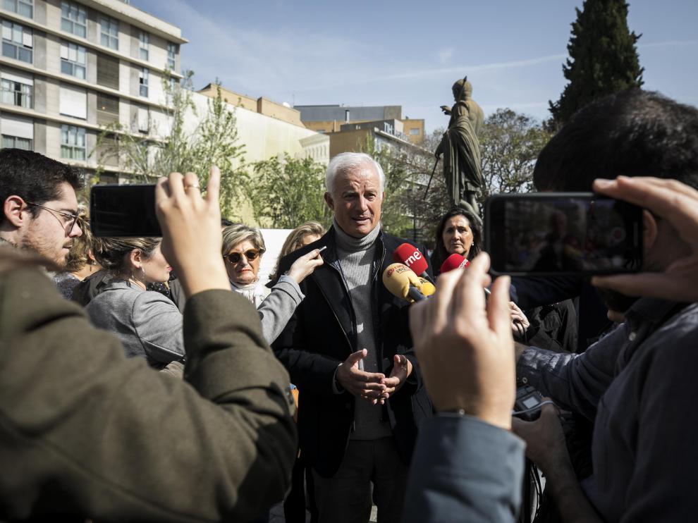 Eloy Suárez, en un acto de campaña este sábado en Zaragoza.